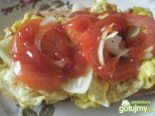 Jajka na chlebie