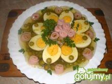 Jajka na groszku w galarecie