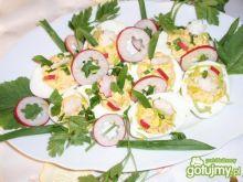 Jajka nadziewane pastą jajeczno serową