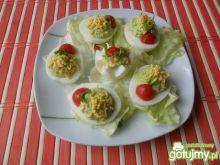 Jajka nadziewane pastą z żółtek
