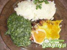 Jajka sadzone ze szpinakiem 4