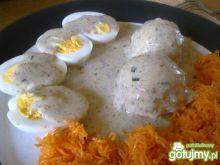 jajka w sosie chrzanowo-koperkowym