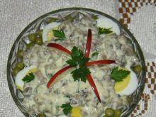 Jajka w sosie majonezowo - pieczarkowym