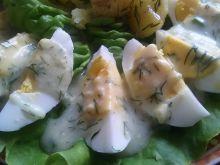 Jajka w sosie serowo - koperkowym II