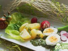 Jajka w zielonym sosie :