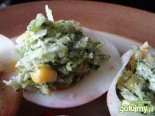Jajka z brokułowym nadzieniem