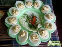 Jajka z farszem pieczarkowym