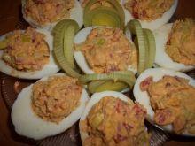 Jajka z farszem porowo - paprykowym