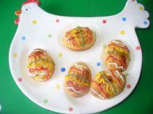 Jajka z francuskiego ciasta