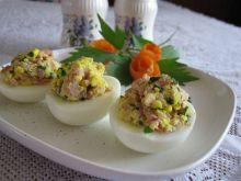 Jajka z gotowaną szynką