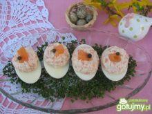 Jajka z kremowym farszem z łososia