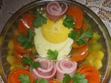 Jajko z warzywami w galarecie