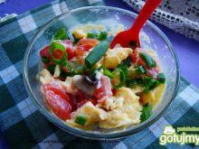 Jajko z warzywami z mikrofali