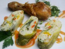Jarskie gołąbki ( robione na parze) z sosem