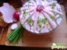 Jarzynowa sałatka z szynką