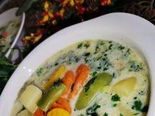 Zupa jarzynowa z serkami topionymi