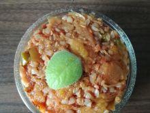 Jednogarnkowa potrawka- kasza z dynią na ostro