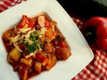 Jesienna potrawka warzywna z kiełbasą śląską