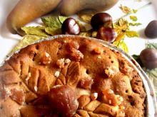 Jesienna tarta kasztanowa z gruszkami