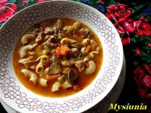 Jesienna zupa gulaszowa z maślakami
