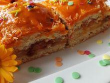 Jesienne ciasto z jabłkami i dynią