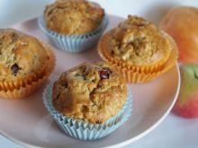 Jesienne muffinki z jabłkiem i żurawiną