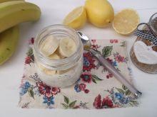 Jogurt z otrębami pszennymi i bananem