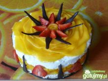 Jogurtowa pianka z galaretką i mango