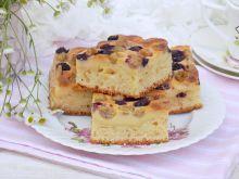 Jogurtowo-serowe ciasto z agrestem i borówkami