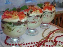 Jogurtowy deserek z galaretką