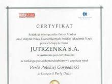 Jutrzenka Perłą Polskiej Gospodarki