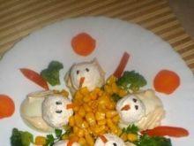 Kaczuszki z jajek i sera