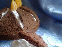 Kakaowa kopuła z kremem śmietankowo-kokosowym