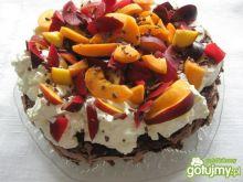 Kakaowa Pavlova z owocami