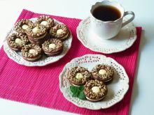 Kakaowe ciasteczka z ziarnami słonecznika