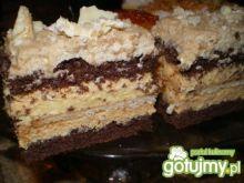 Kakaowe ciasto przekładane kremem