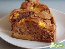 Kakaowe ciasto z brzoskwiniami