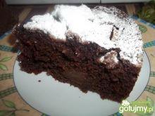 Kakaowe ciasto z owocami