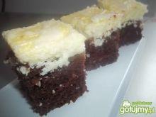 Kakaowe ciasto z twarogiem i kokosem
