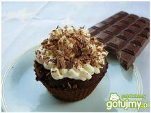 Kakaowe muffinki z kremem kokosowym