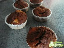 Kakaowe Muffiny z cukinią i jabluszkiem