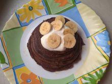 Kakaowe pancakes z bananami