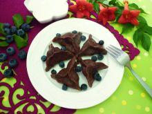 Kakaowe pierożki z borówkami