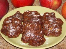 Kakaowe racuchy z jabłkami