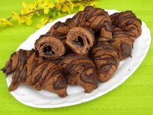 Kakaowe rogaliki z powidłami