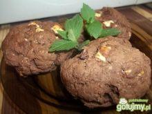 Kakaowe scones z białą czekoladą