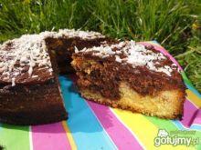 Kakaowo- kokosowe ciasto