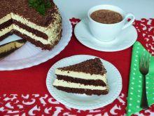 Kakaowy torcik z kawową pianką