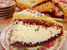 Kakaowy tort urodzinowy z kremem mascarpone