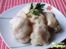 Kalafior w śmietanowo-czosnkowym sosie